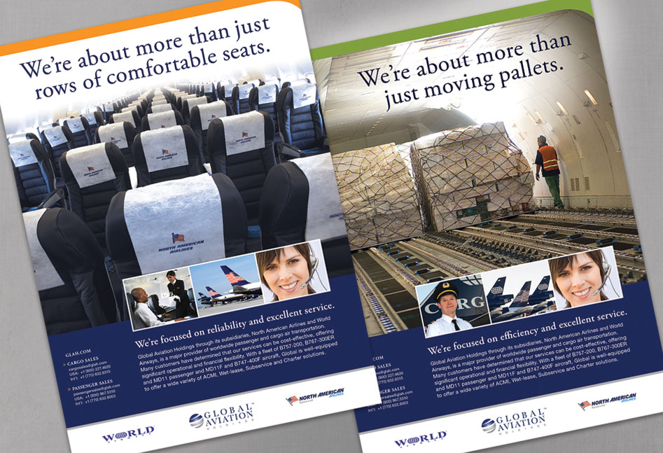 Global Aviation Holdings Passenger and Cargo Ads