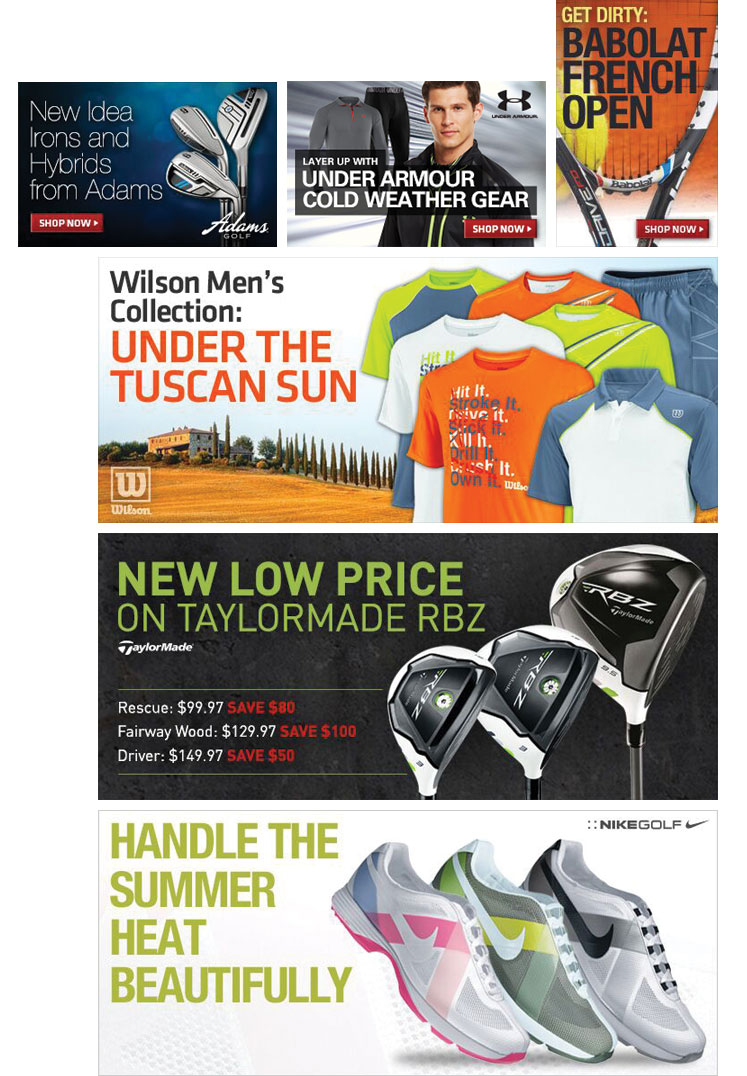 PGA TOUR Superstore Web Banners
